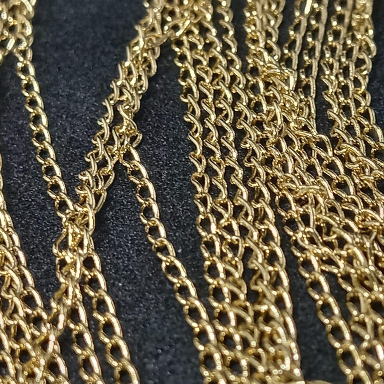 Corrente ferro dourada 784 2mm / metro
