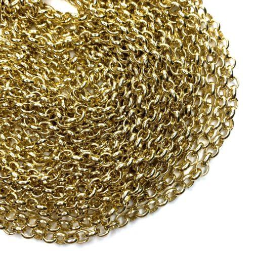 Corrente guaraná dourada 9x7mm (Cód 2.0)  - 1 Metro  - Palácio Dos Cristais