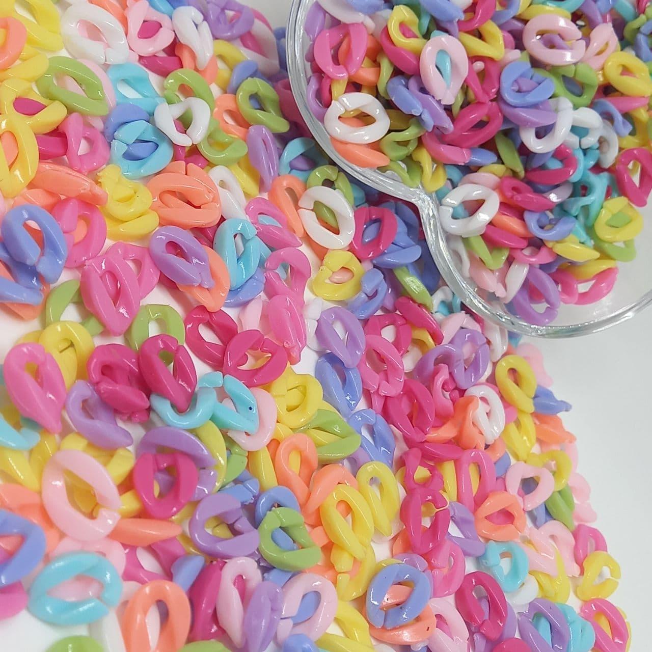 Elos colorido para montagem de correntes - 25g