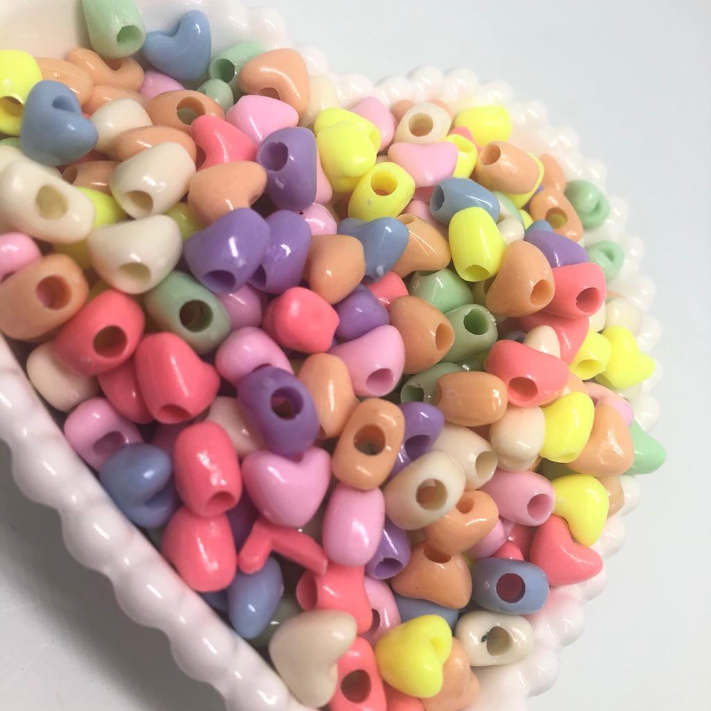 Entremeio coração leitoso colorido - 25g