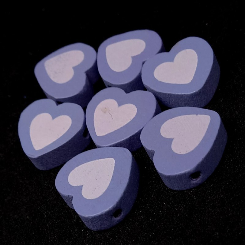 Entremeio de coração lilás 16x18mm / unidade