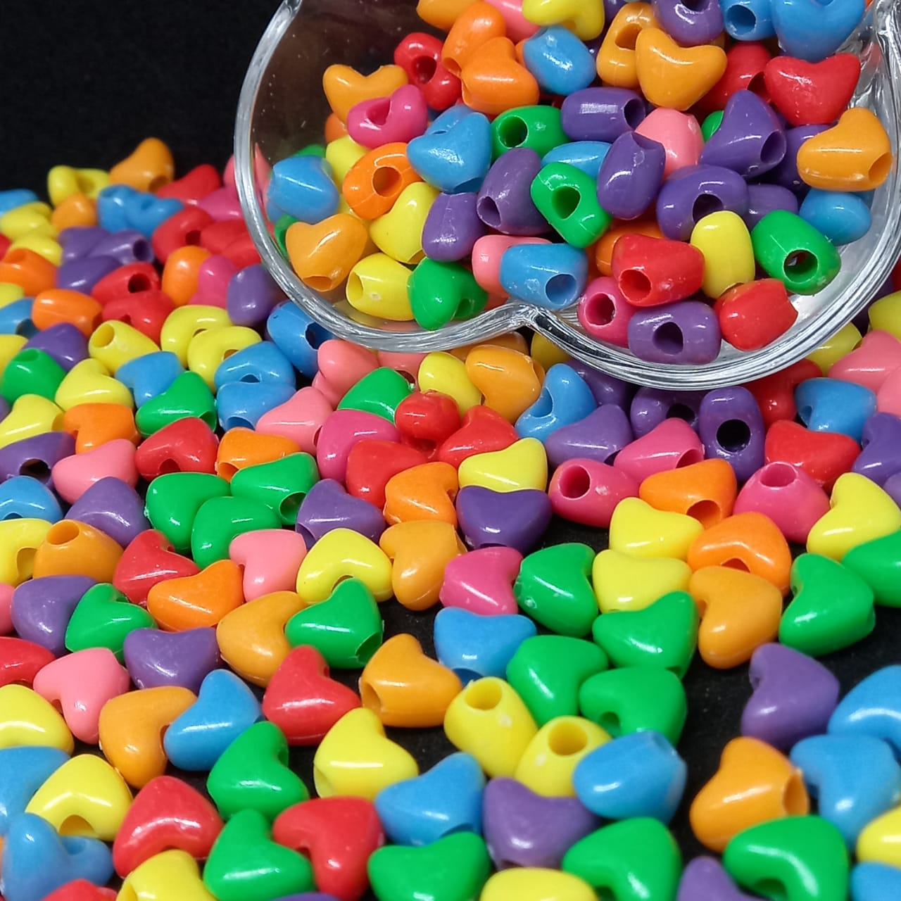 Entremeio de coração multicolor  8x11 - 25g
