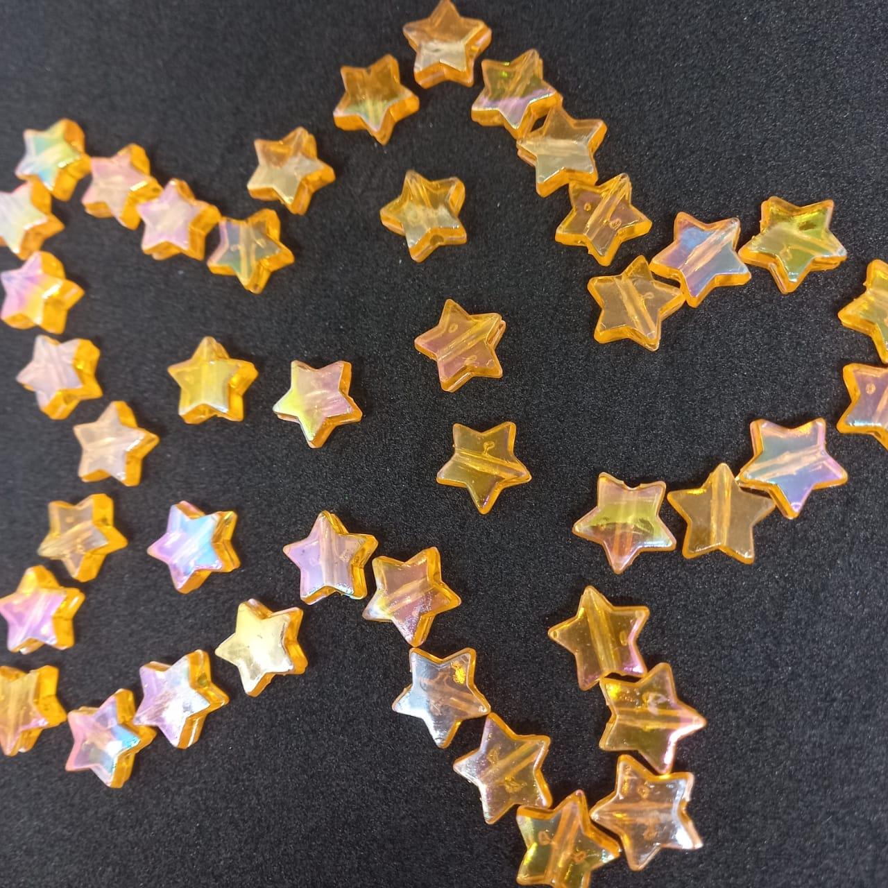 Entremeio de estrela laranja furta cor  25g 10mm