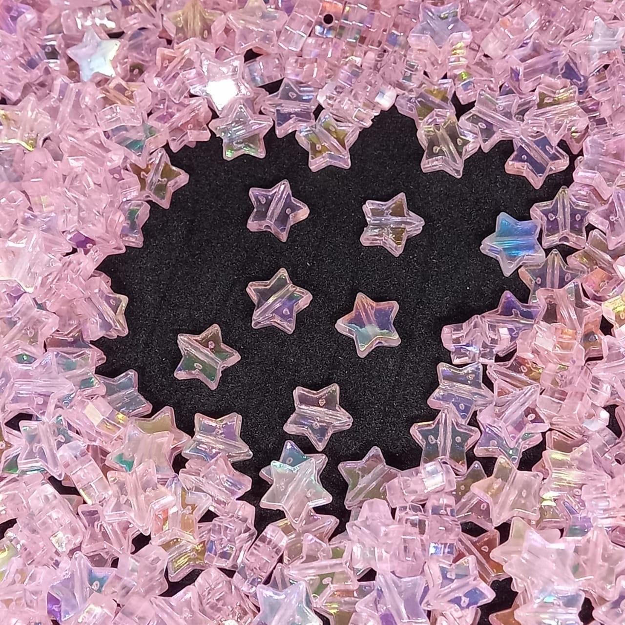 Entremeio de estrela rosa bebê furta cor  25g 10mm