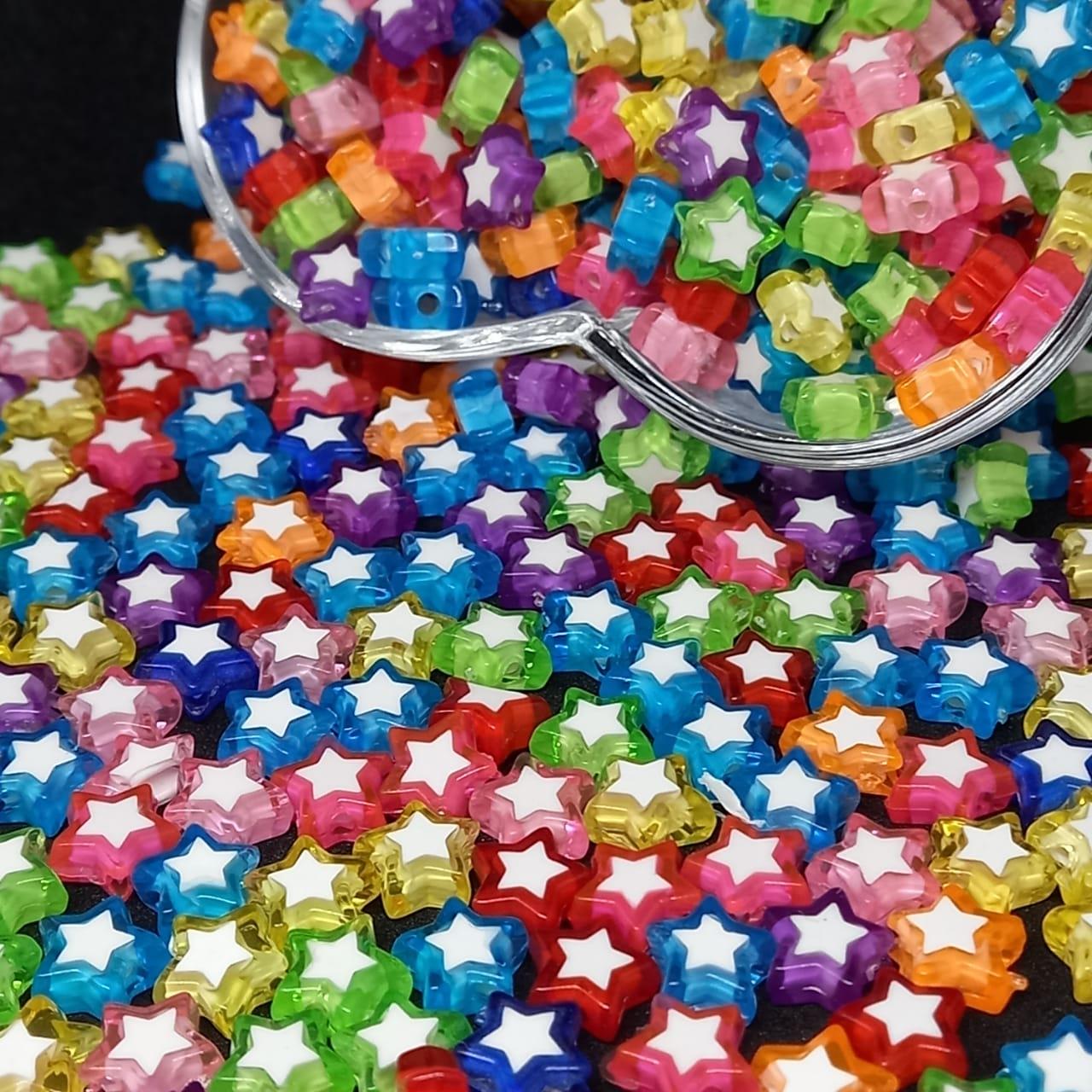 Entremeio multicolor c/ estrela branca 10g 9mm