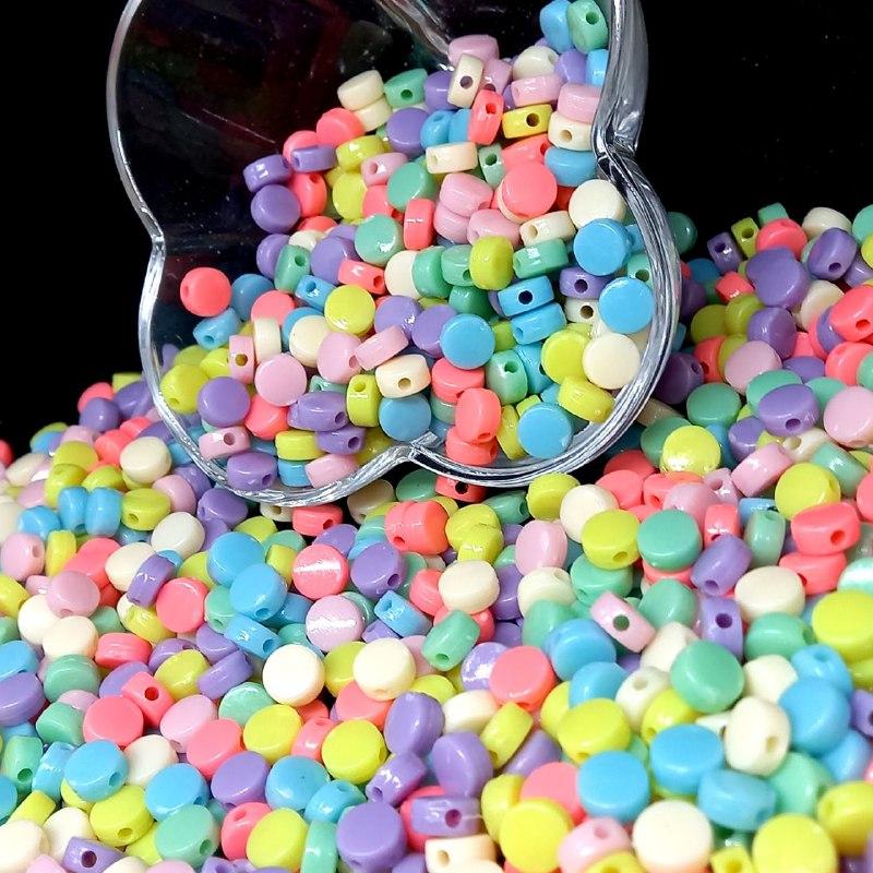 Entremeio pastilha multicolor pastel  25g 8mm