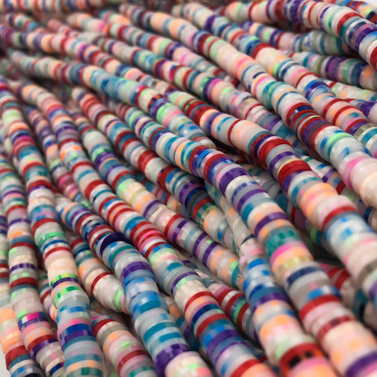Fimo colorido 6mm  - Coral  - Palácio Dos Cristais