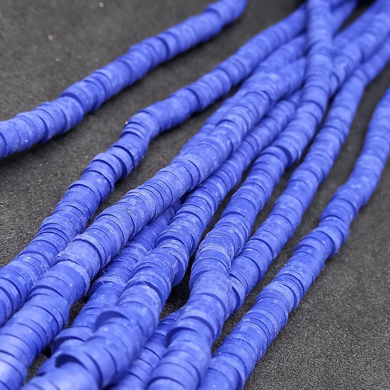 Fio de fimo azul marinho 6mm