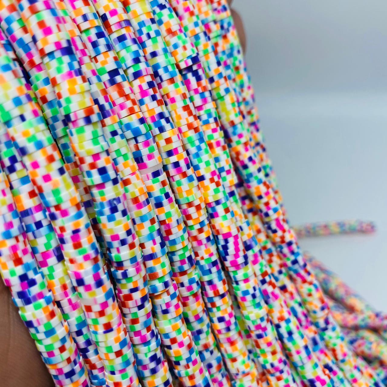 Fio de fimo pontinho colorido 6mm