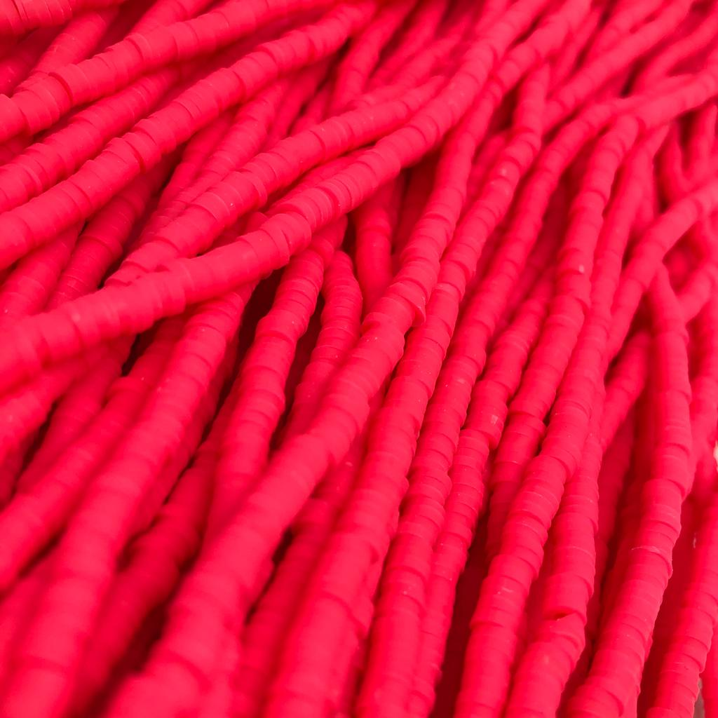 Fio de fimo rosa pink 4mm