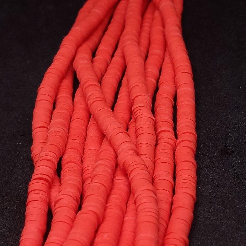 Fio de fimo vermelho 6mm