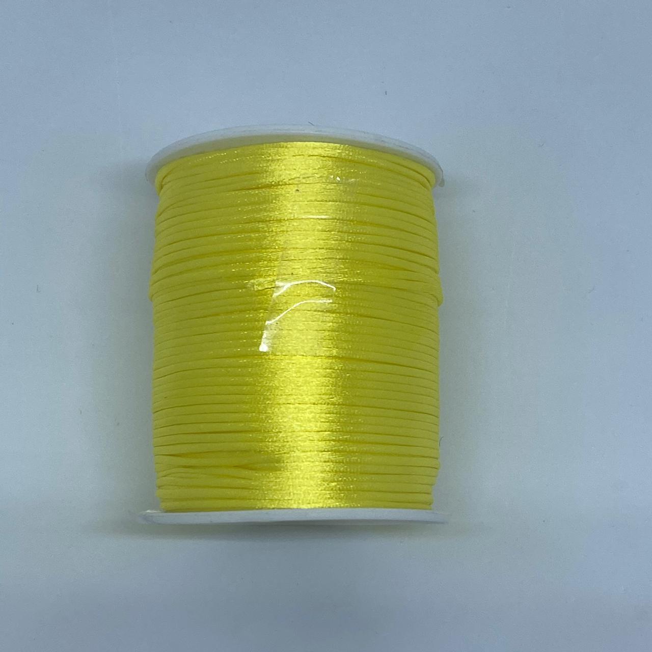 Fio de seda amarelo c/ 10 metros 1mm