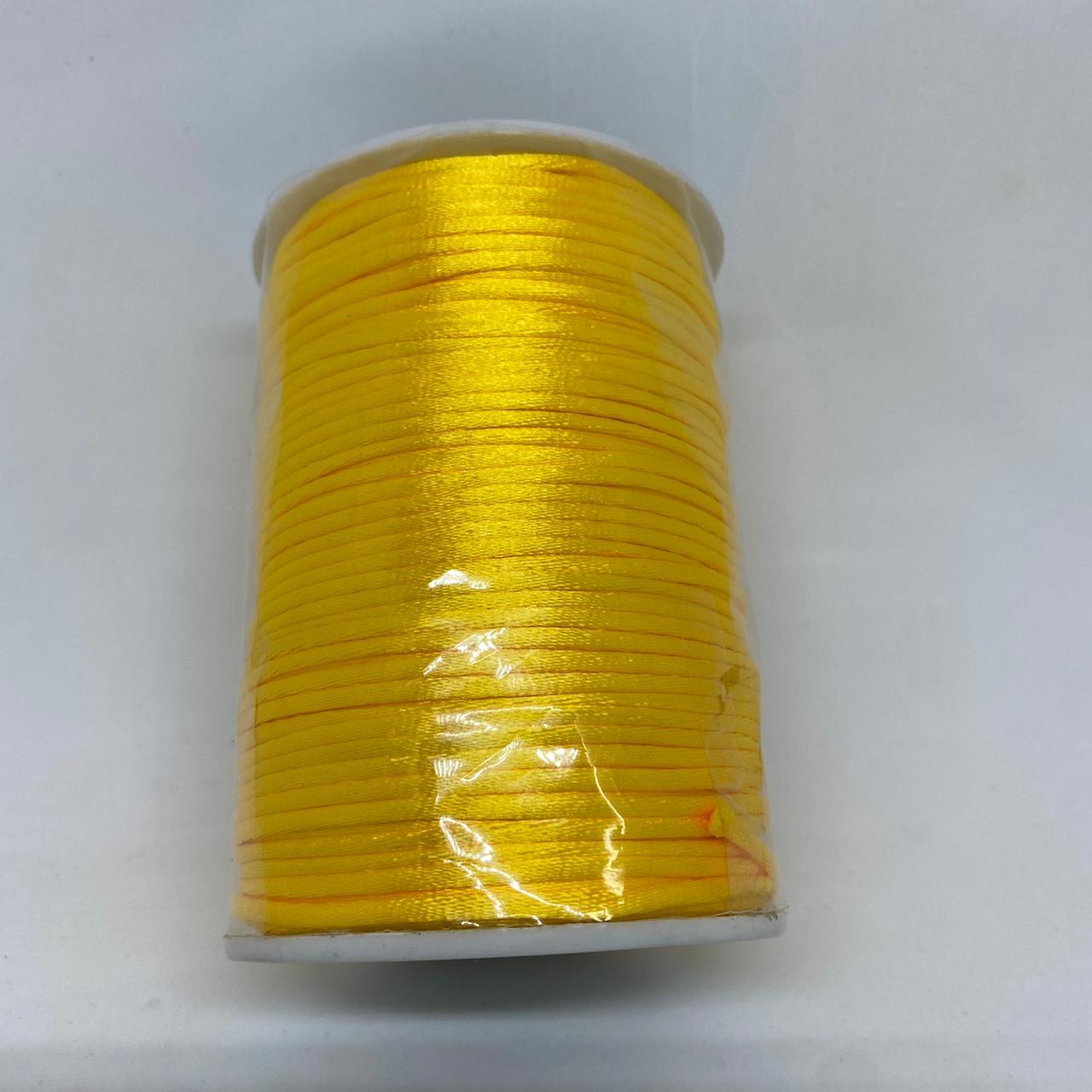 Fio de seda amarelo c/ 10 metros 2mm
