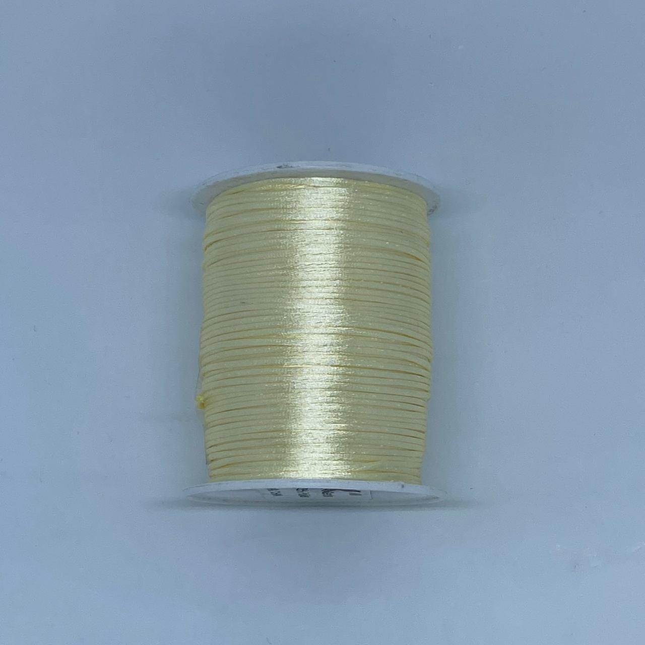Fio de seda amarelo claro c/ 10 metros 1mm