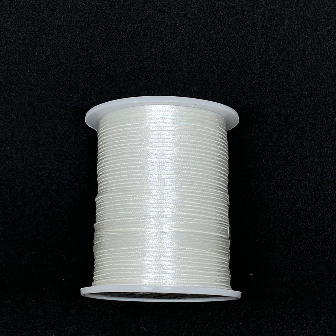 Fio de seda branco c/ 10 metros 1mm