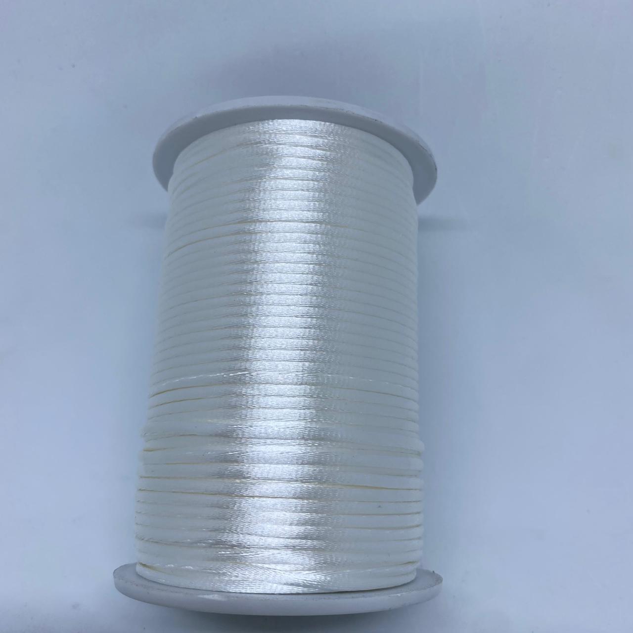 Fio de seda branco c/ 10 metros 2mm