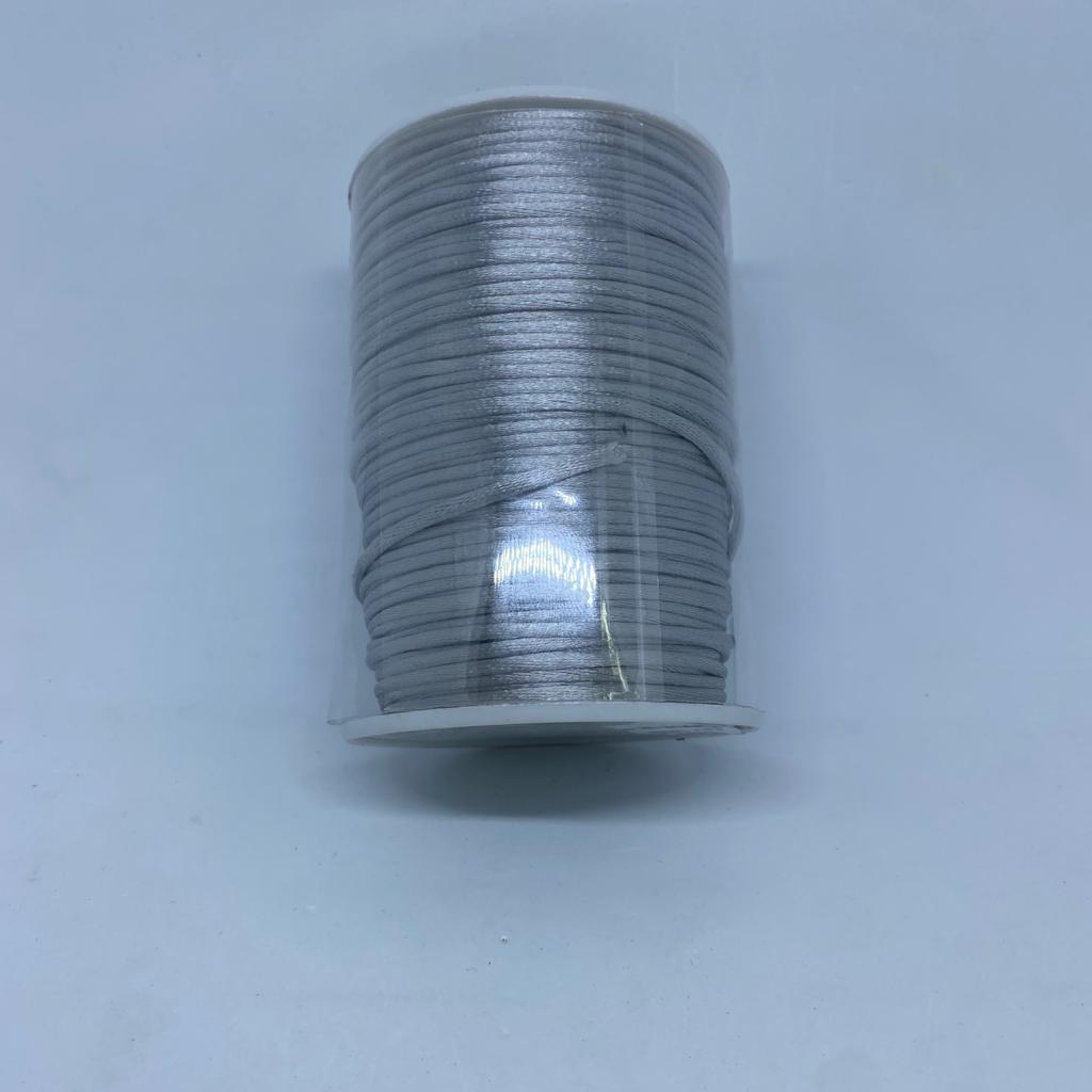 Fio de seda cinza c/ 10 metros 1mm