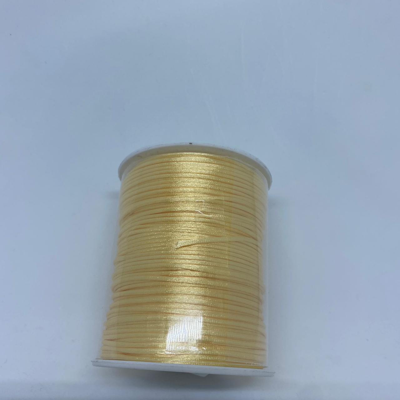 Fio de seda dourado   c/ 10 metros 1mm