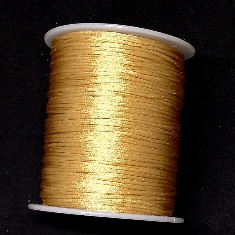 Fio de seda dourado escuro c/ 10 metros 1mm