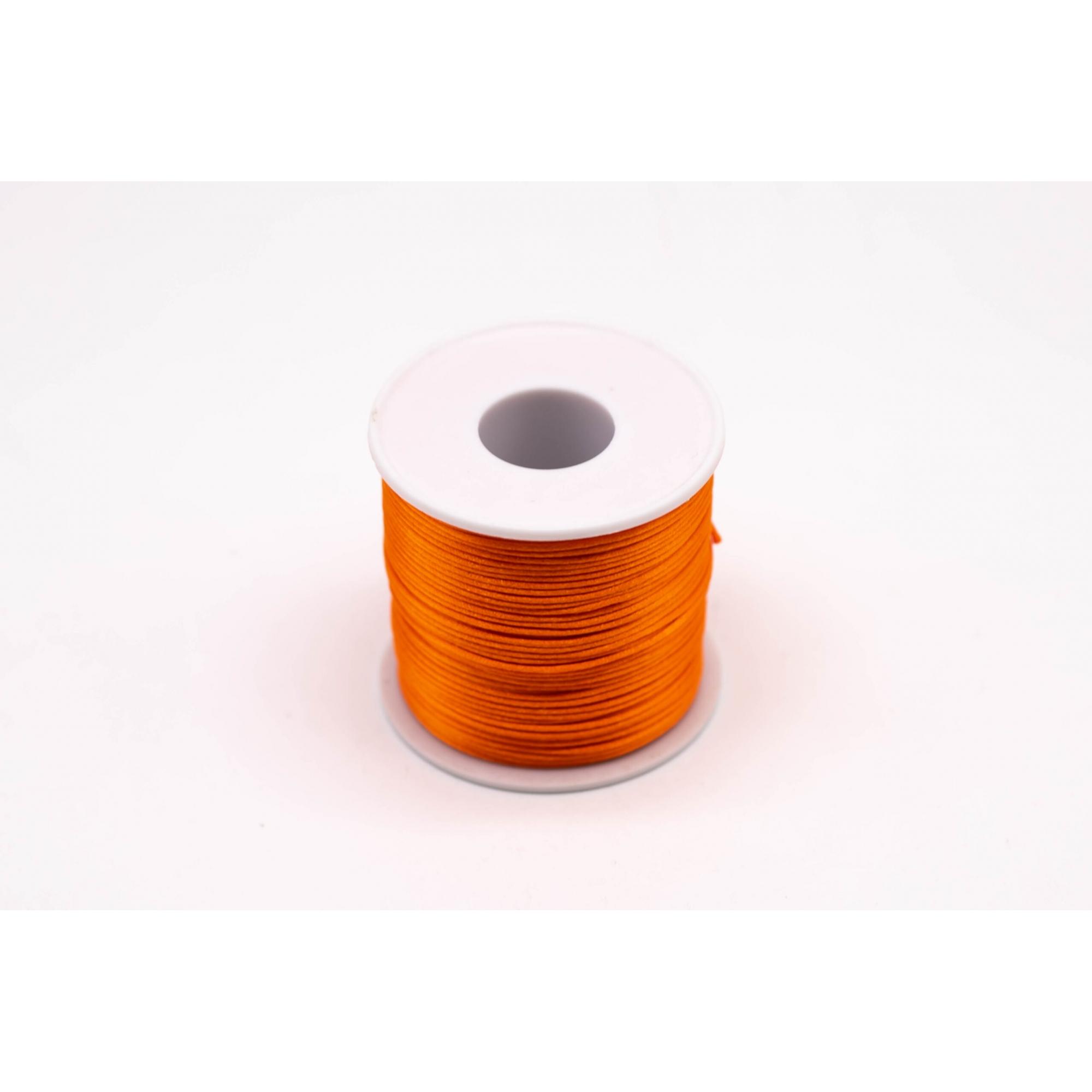 Fio de seda laranja c/ 10 metros 1mm