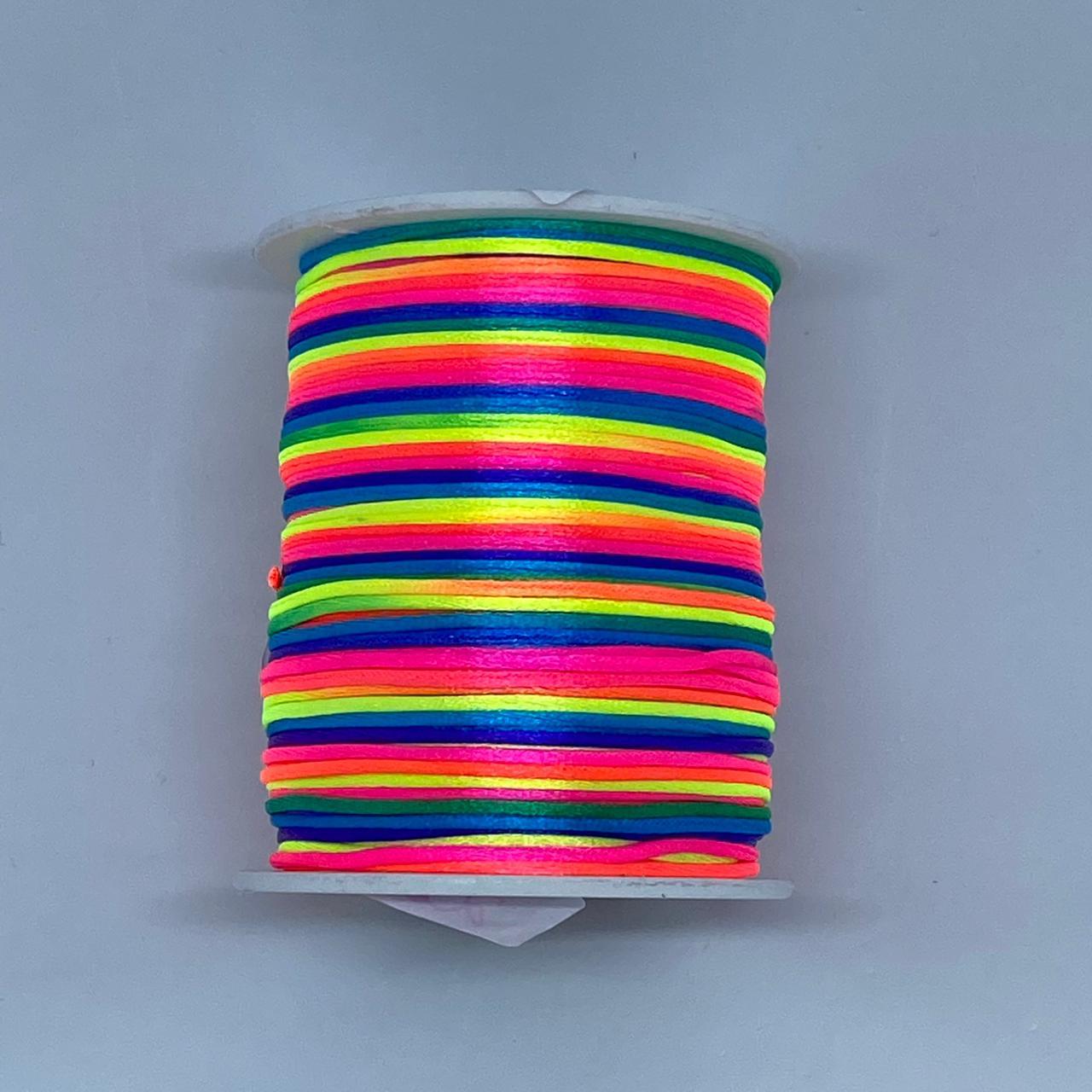 Fio de seda multicolor c/ 10 metros 1mm