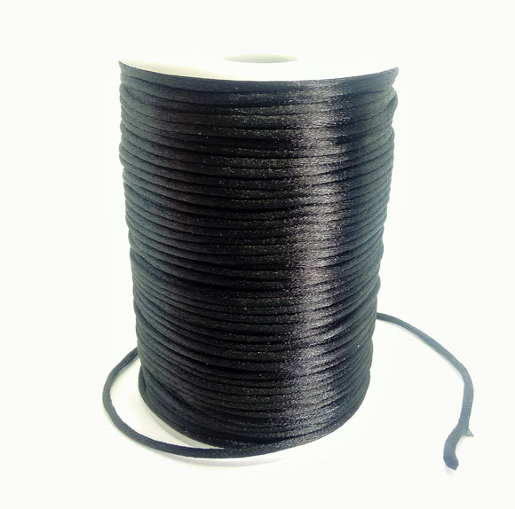 Fio de seda preto c/ 10 metros 2mm