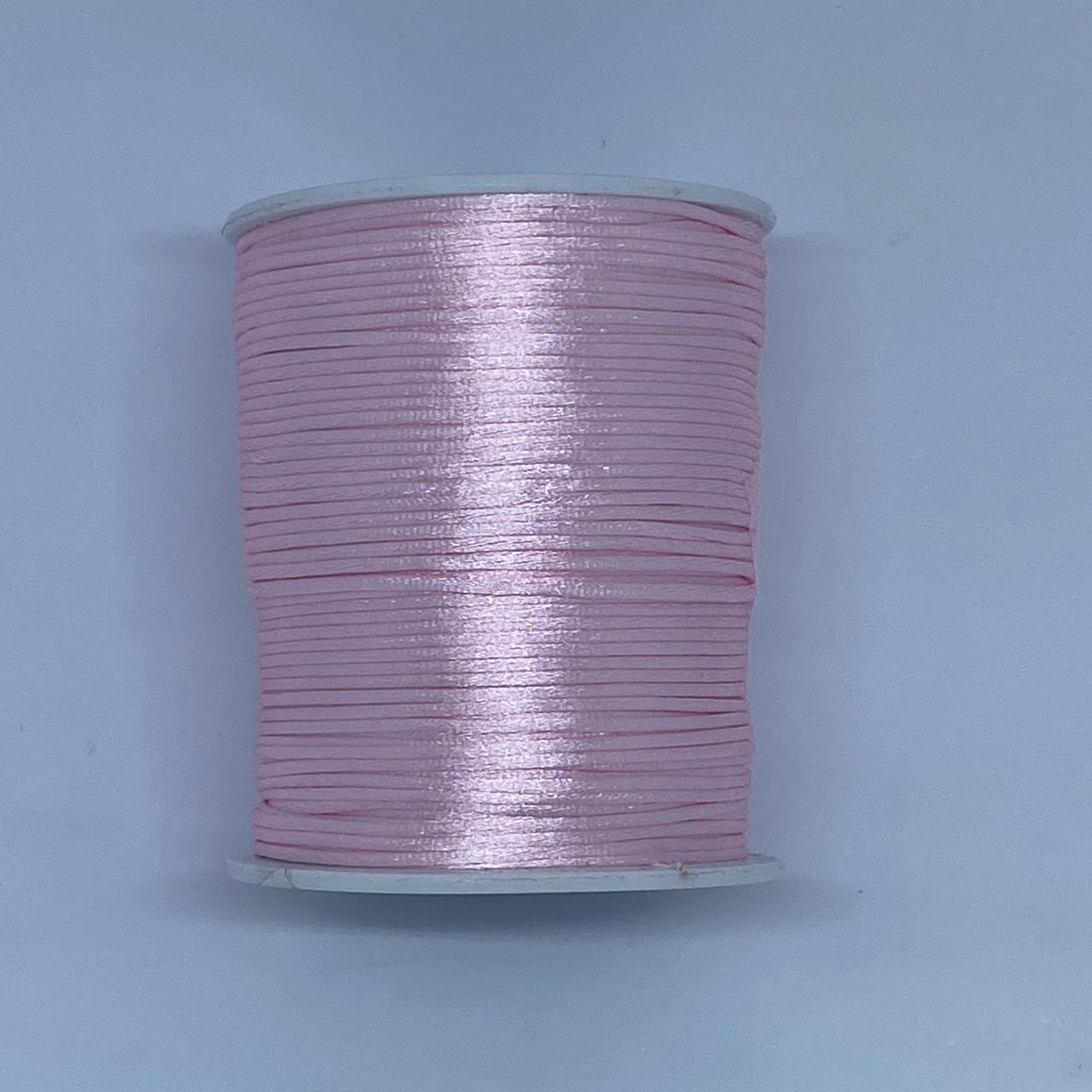 Fio de seda rosa bebê c/ 10 metros 1mm