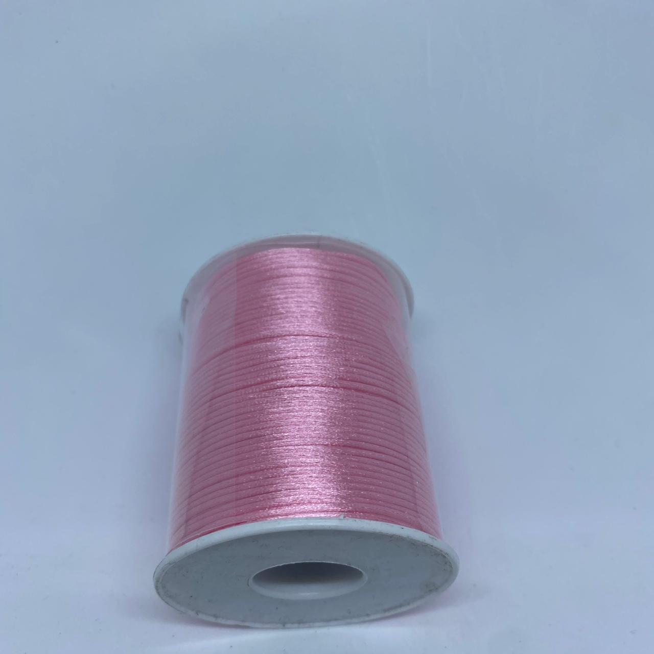 Fio de seda rosa   c/ 10 metros 1mm