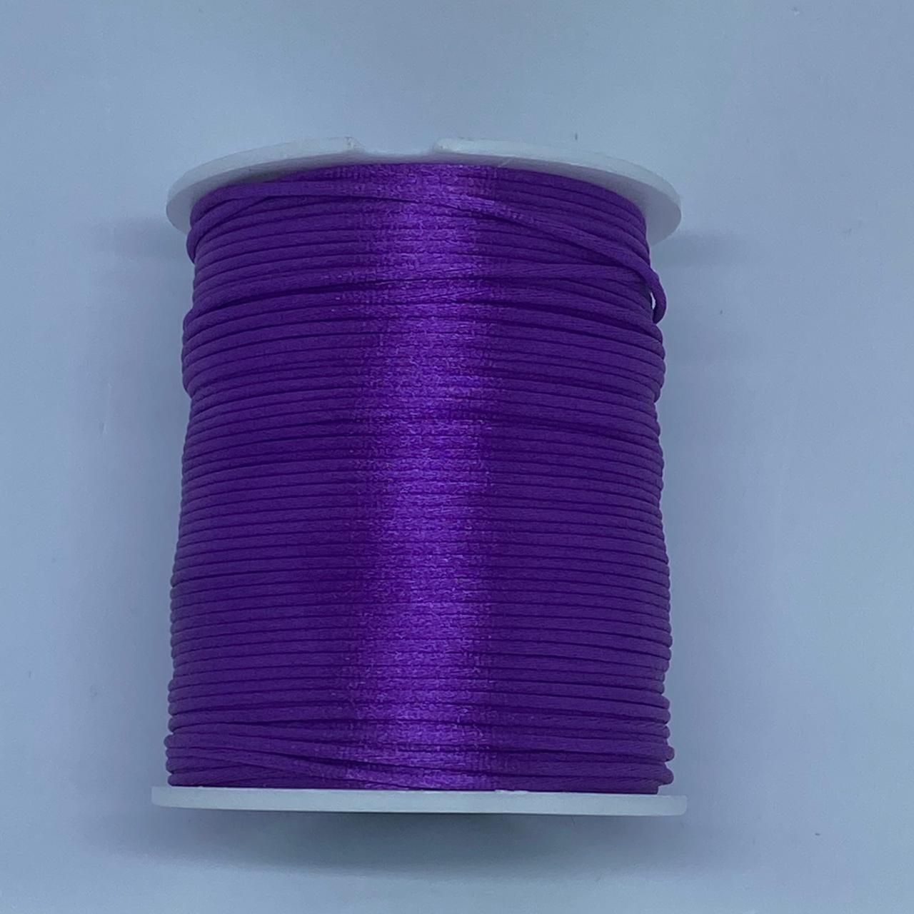 Fio de seda roxo c/ 10 metros 1mm