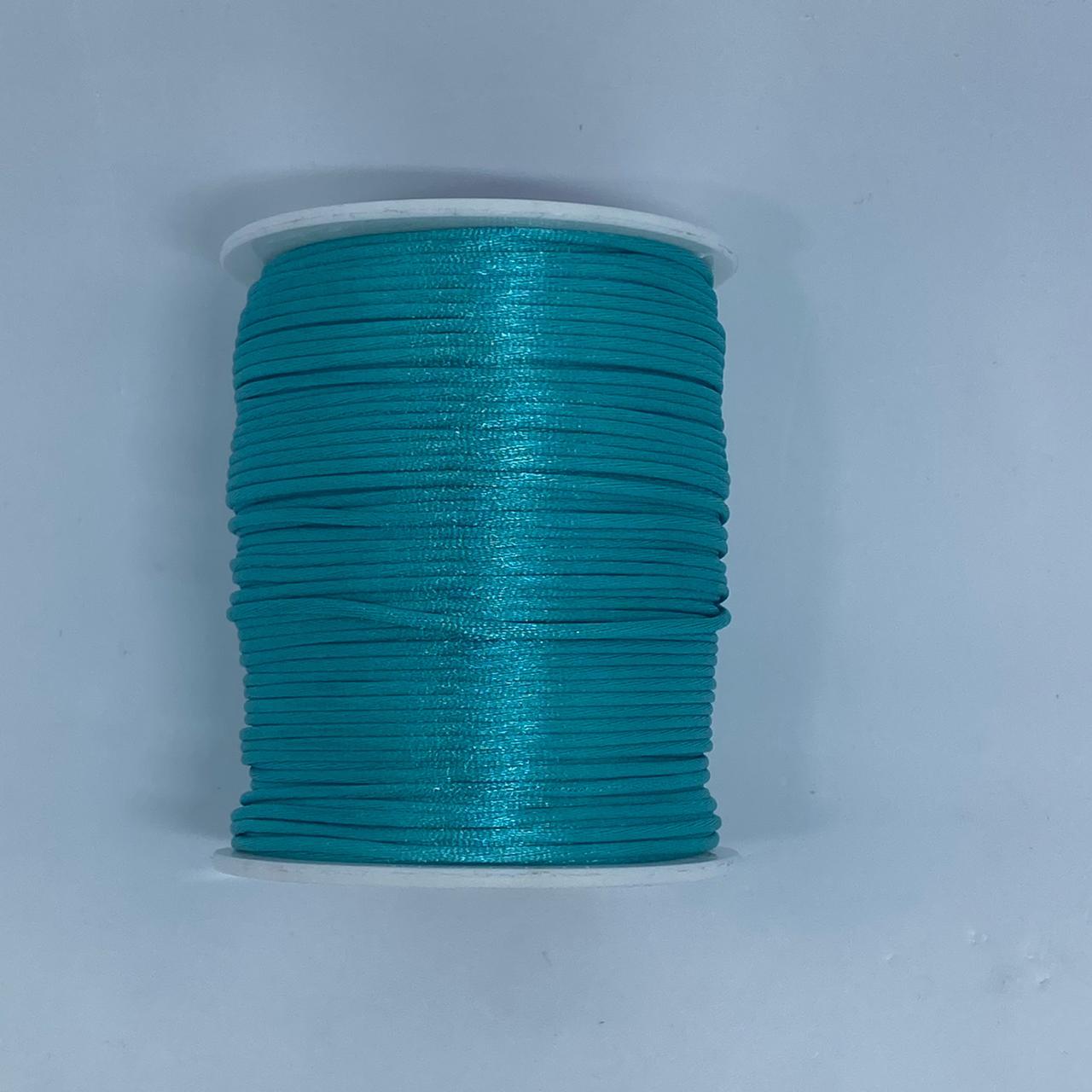 Fio de seda turquesa c/ 10 metros 1mm