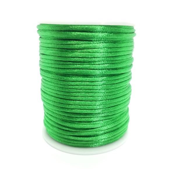 Fio de seda verde bandeira  c/ 10 metros 2mm