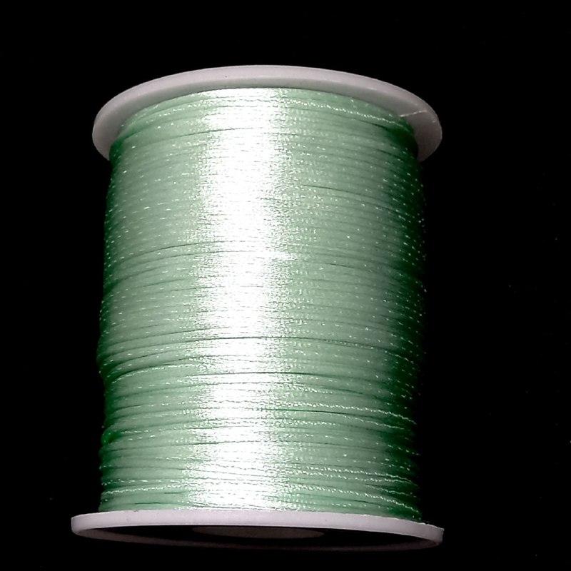 Fio de seda verde  c/ 10 metros 1mm