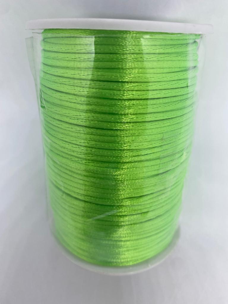 Fio de seda verde limão c/ 10 metros 2mm