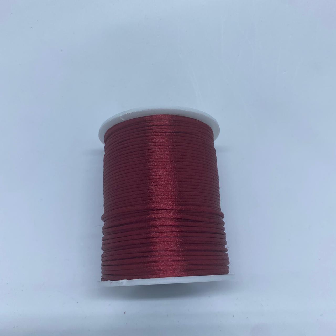 Fio de seda vinho c/ 10 metros 1mm