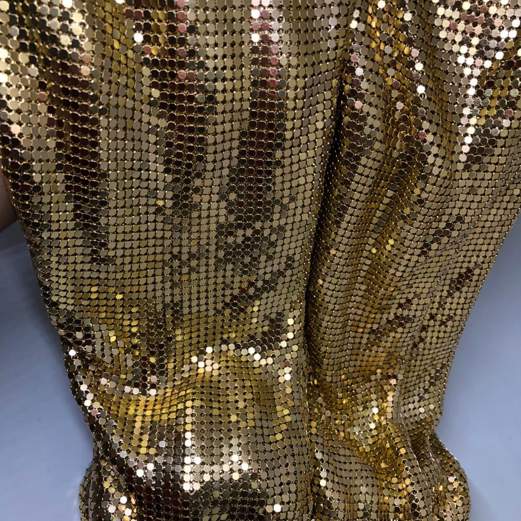 Manta Metalizada Paco Rabanne 1,20 x 45cm Unidade – Dourado