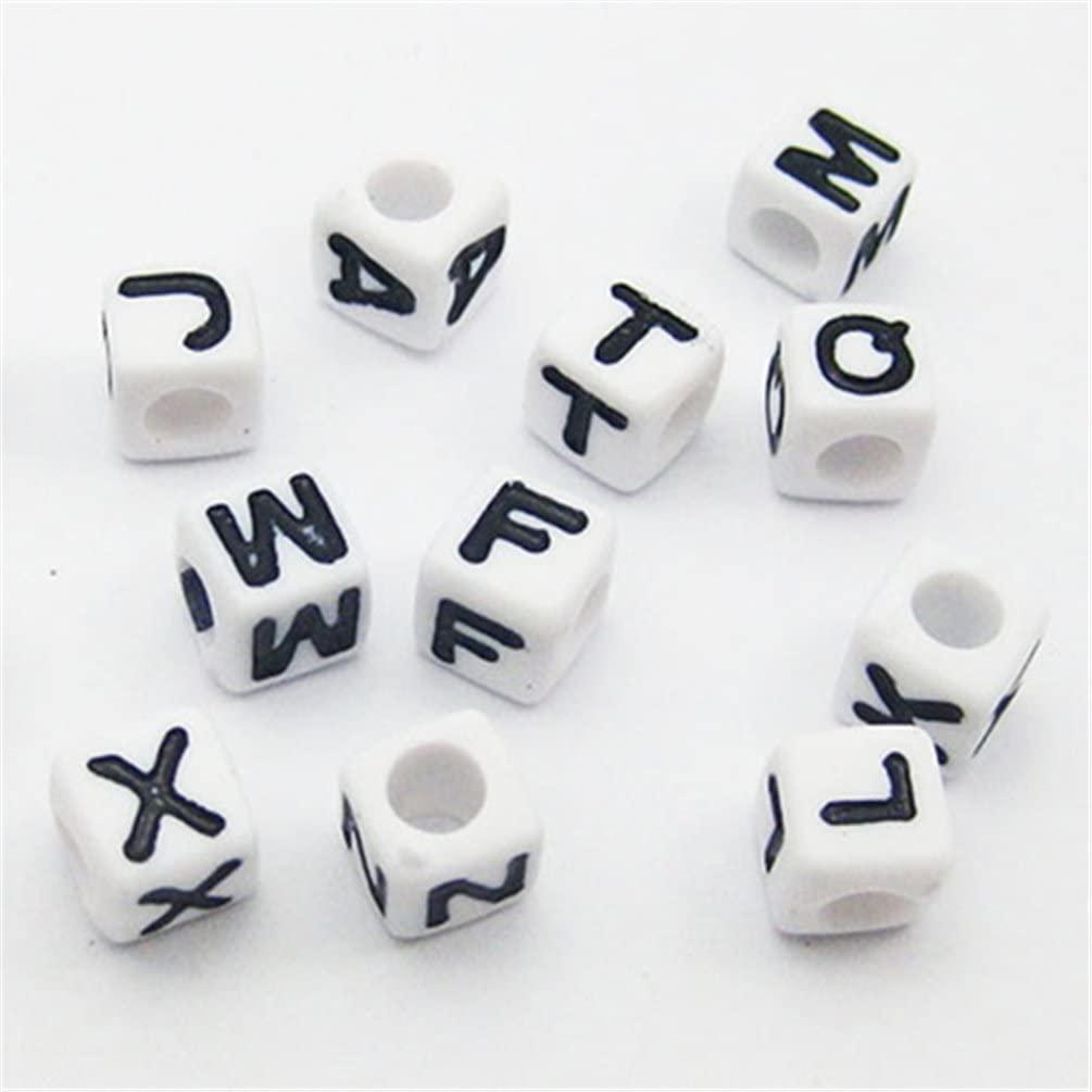 Miçanga Alfabeto Letras brancas e preta 25g  - Palácio Dos Cristais
