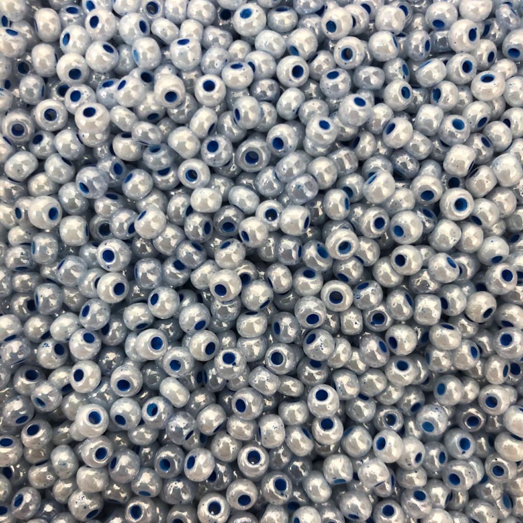 Miçanga azul perolado Jablonex 6/0 500g
