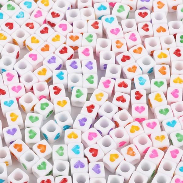 Miçanga Colorida / Infantil - Cubo Corações 6mm 25g