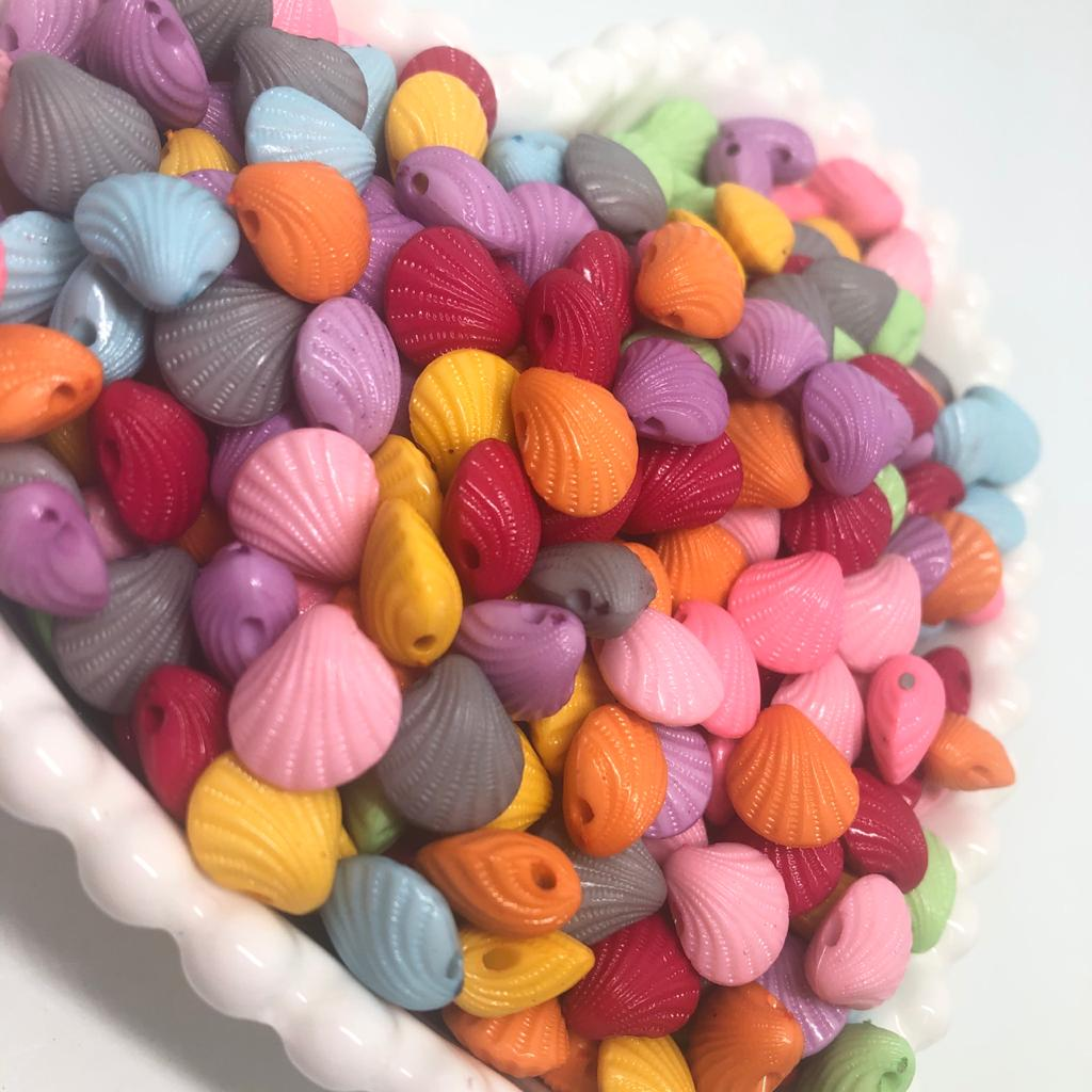 Miçanga conchas colorida - 25g