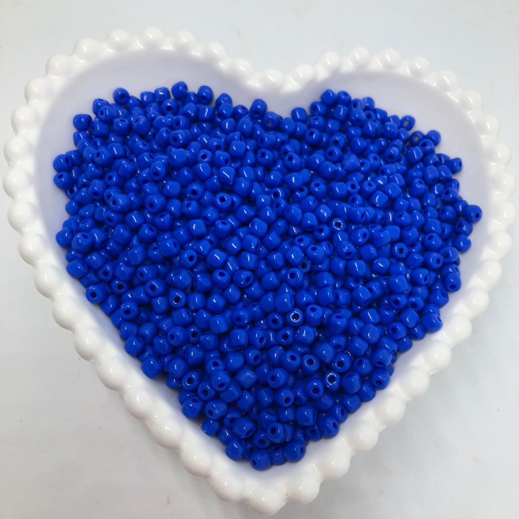 Miçanga de plástico azul royal  4.5 - 25g  - Palácio Dos Cristais