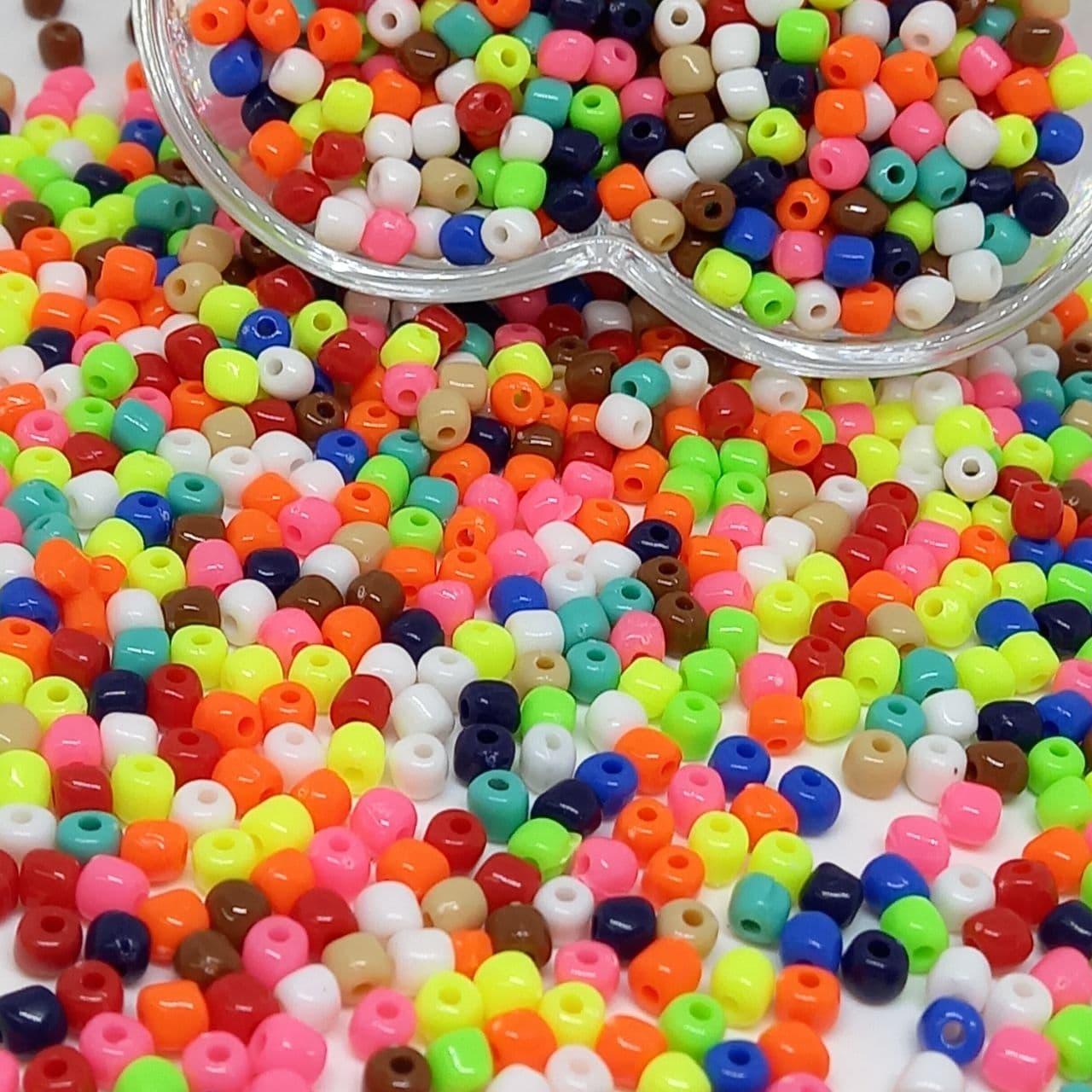 Miçanga de plástico colorida 4.5 - 25g