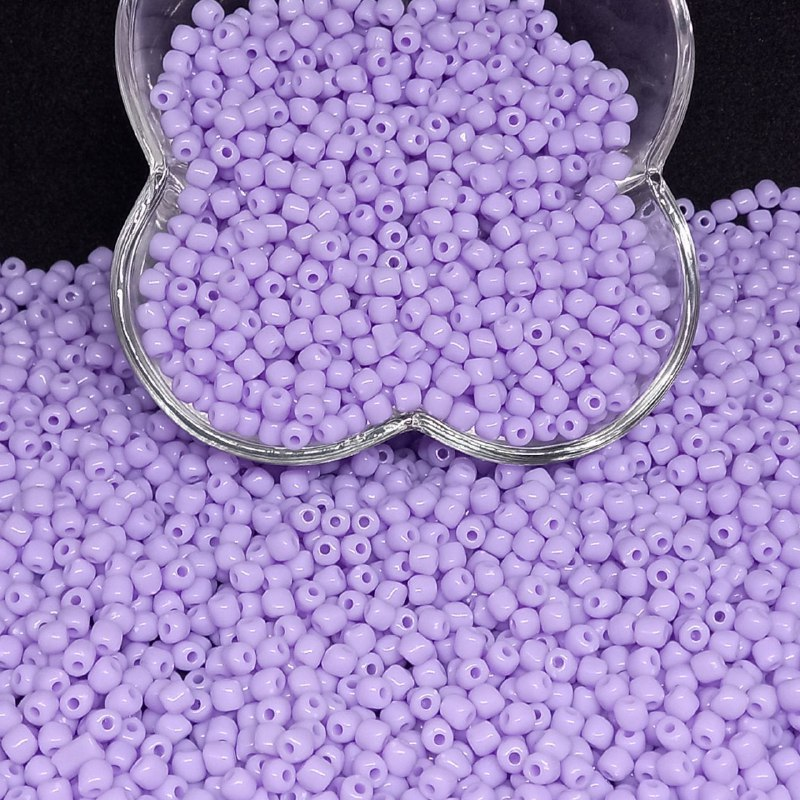 Miçanga de plástico lilás  4.5 - 25g