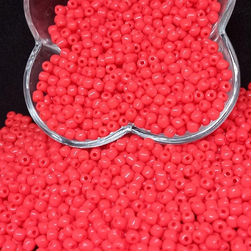 Miçanga de plástico rosa chiclete  4.5 - 25g