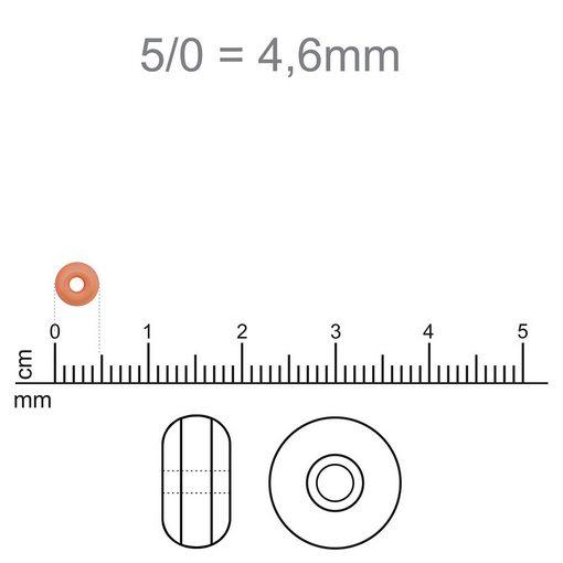 Miçanga Furtacor Fosco Metálico jablonex 5/0 500g