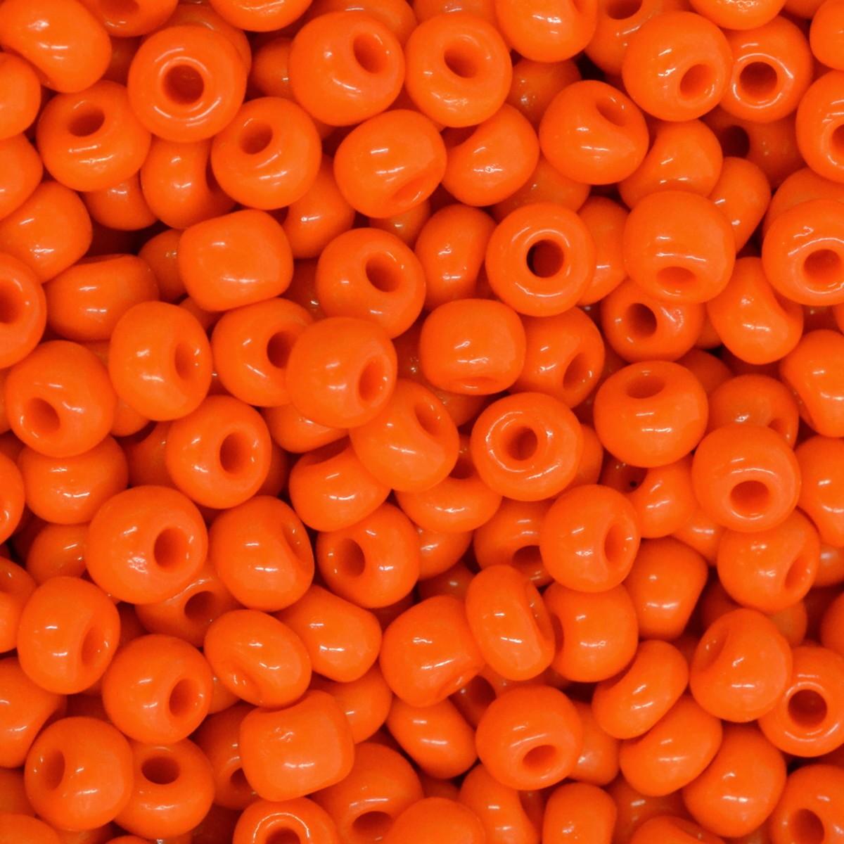 Miçanga Leitosa laranja Jablonex 5/0 500g