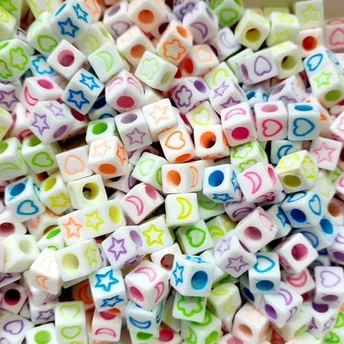 Miçanga - Símbolos Cubo Color Neon 6mm 25g