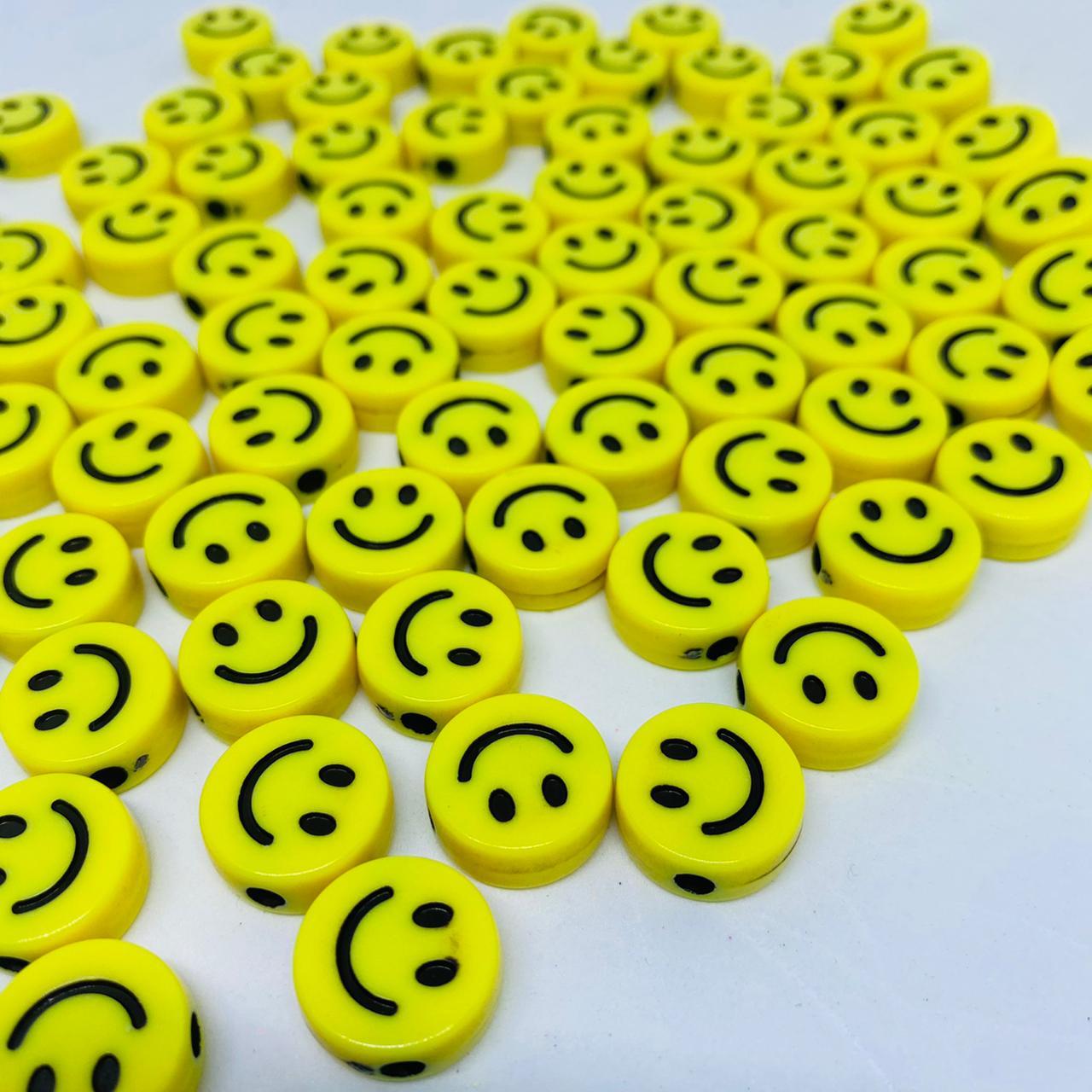 Miçanga - smile amarelo 25 gr   - Palácio Dos Cristais