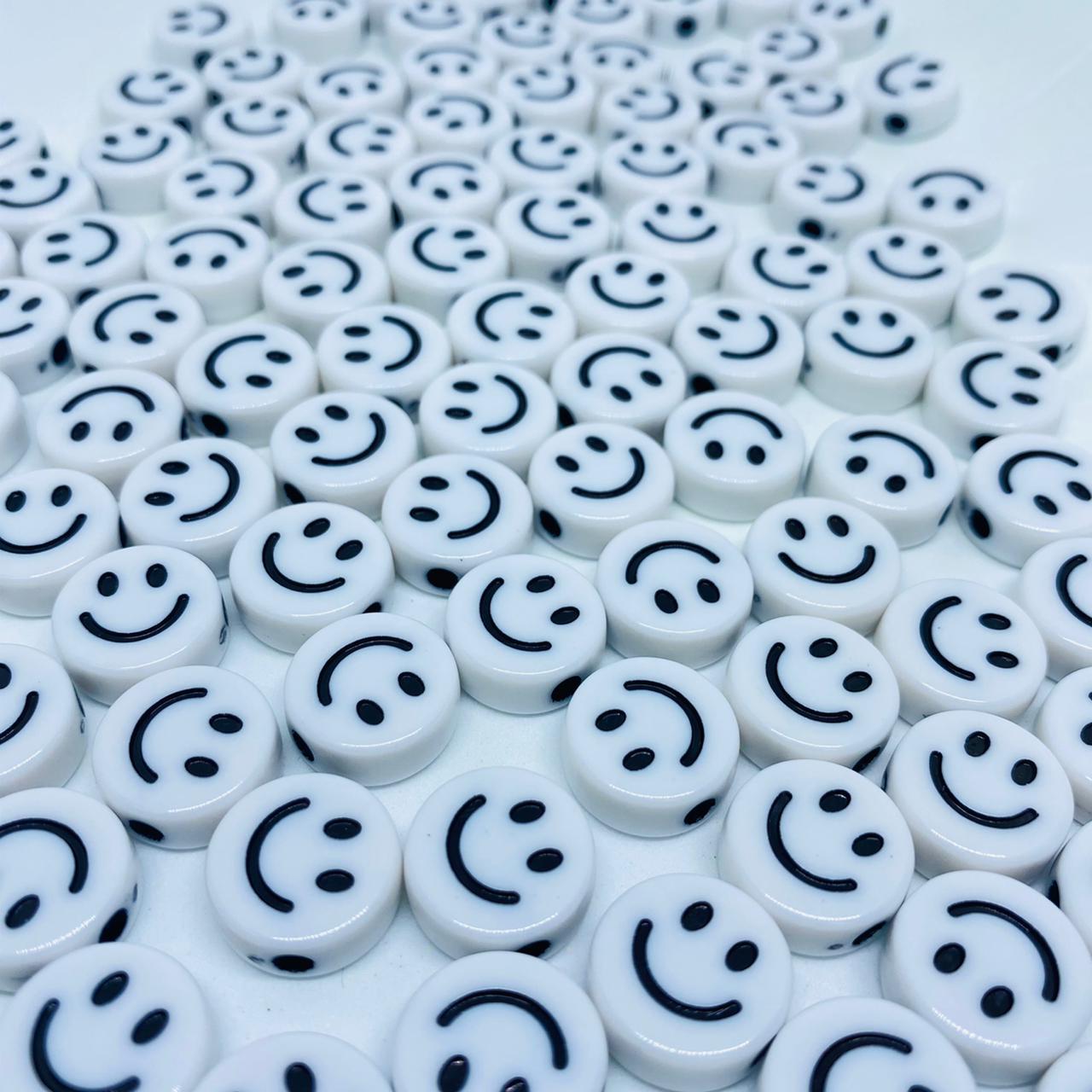 Miçanga - smile branco 25 gr   - Palácio Dos Cristais