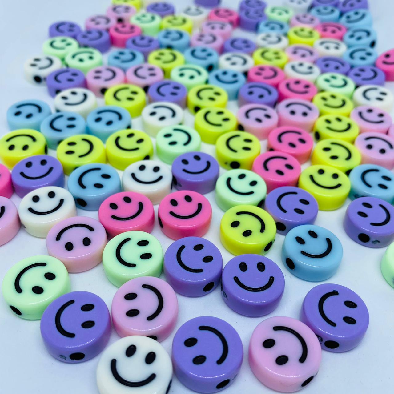 Miçanga - smile colorido 25 gr   - Palácio Dos Cristais