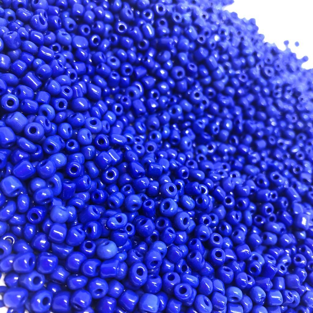 Miçangão Azul Caneta 4.1mm (6/0)  - Pacote c/500g